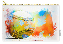 Baseball- Colors- Isolated Carry-all Pouch by Kenny Francis