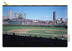 Baseball Match In Progress, Wrigley Carry-all Pouch by Panoramic Images