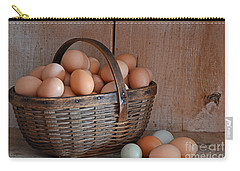 Basket Full Of Eggs Carry-all Pouch by Mary Carol Story