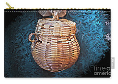 Basket In Blue Carry-all Pouch