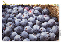 Basket Of Fresh Picked Blueberries Carry-all Pouch by Edward Fielding