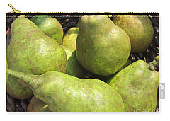 Basket Of Green Pears Carry-all Pouch by Susan Carella