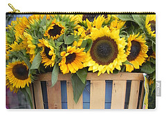 Carry-all Pouch featuring the photograph Basket Of Sunshine by Chrisann Ellis