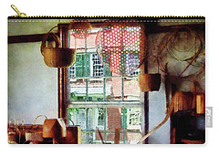 Carry-all Pouch featuring the photograph Basket Shop by Susan Savad