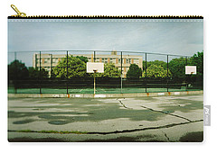 Basketball Court In A Public Park Carry-all Pouch by Panoramic Images