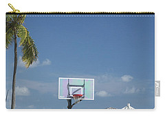 Basketball Goal On The Beach Carry-all Pouch