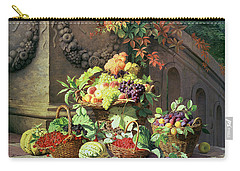 Baskets Of Summer Fruits Carry-all Pouch by William Hammer