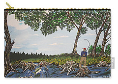 Bass Fishing In The Stumps Carry-all Pouch by Jeffrey Koss