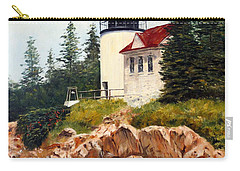 Carry-all Pouch featuring the painting Bass Harbor Head Light by Lee Piper