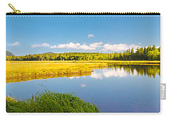 Bass Harbor Marsh Panorama Acadia National Park Photograph Carry-all Pouch by Keith Webber Jr