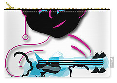 Carry-all Pouch featuring the digital art Bass Man by Marvin Blaine