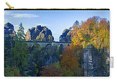 Bastei Bridge In The Elbe Sandstone Mountains Carry-all Pouch