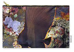 Carry-all Pouch featuring the photograph Bat Fish by Sergey Lukashin