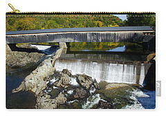 Bath Haverhill Covered Bridge In Autumn Carry-all Pouch
