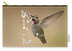 Bath Time For Anna's Hummingbird Carry-all Pouch
