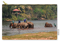 Carry-all Pouch featuring the photograph Bath Time by Vivian Christopher