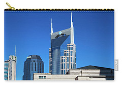 Batman Building And Nashville Skyline Carry-all Pouch by Dan Sproul