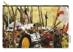 Battle Of Tewkesbury Carry-all Pouch by Ron Harpham