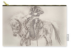 Carry-all Pouch featuring the drawing Battle Of Wills by Kim Lockman