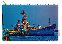 Battleship New Jersey At Night Carry-all Pouch