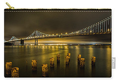 Bay Bridge And Clouds At Night Carry-all Pouch