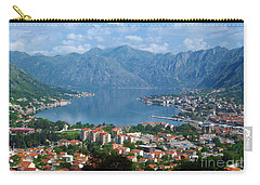 Carry-all Pouch featuring the photograph Bay Of Kotor - Montenegro by Phil Banks