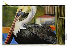 Carry-all Pouch featuring the painting Bay St. Louis Pelican by Phyllis Beiser