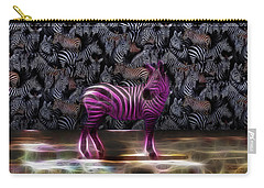 Be Courageous - Be Different - Zebra Carry-all Pouch