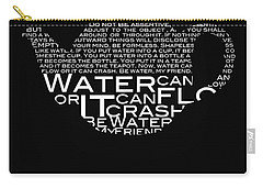 Be Water My Friend  Carry-all Pouch