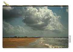 Beach And Clouds Carry-all Pouch by Linda Unger