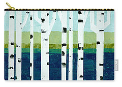 Beach Birches Pano Carry-all Pouch