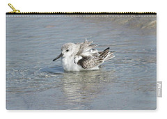 Beach Bird Bath 4 Carry-all Pouch