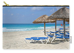 Beach Chairs In Cancun Carry-all Pouch