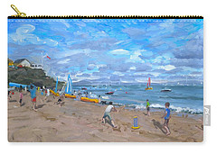 Beach Cricket Carry-all Pouch by Andrew Macara