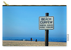 Beach Curfew Carry-all Pouch by Tammy Espino