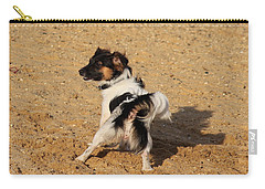 Beach Dog Pose Carry-all Pouch