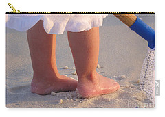 Carry-all Pouch featuring the photograph Beach Feet  by Nava Thompson