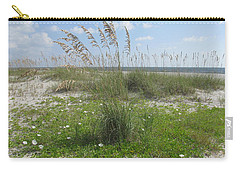 Beach Flowers And Oats 2 Carry-all Pouch