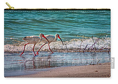 Beach Jogging In Twos Carry-all Pouch by Hanny Heim