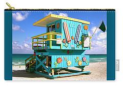 Beach Life In Miami Beach Carry-all Pouch