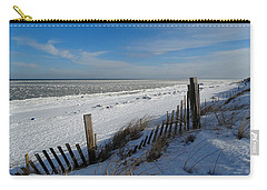 Beach On A Winter Morning Carry-all Pouch by Dianne Cowen