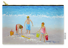 Beach Painting - Sandcastles Carry-all Pouch