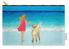 Beach Painting 'sunkissed Hair'  Carry-all Pouch