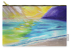 Carry-all Pouch featuring the painting Beach Reflection by Thomas J Herring