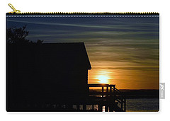 Beach Shack Silhouette Carry-all Pouch