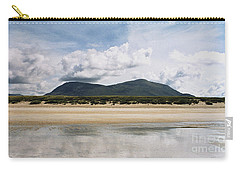 Carry-all Pouch featuring the photograph Beach Sky And Mountains by Rebecca Harman