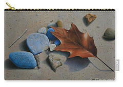 Beach Still Life II Carry-all Pouch by Pamela Clements