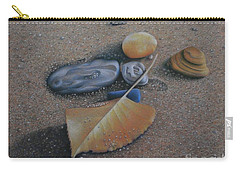 Carry-all Pouch featuring the painting Beach Still Life IIi by Pamela Clements