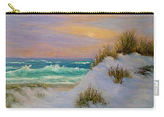 Beach Sunset Paintings Carry-all Pouch