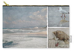 Beach Triptych 1 Carry-all Pouch by Linda Lees